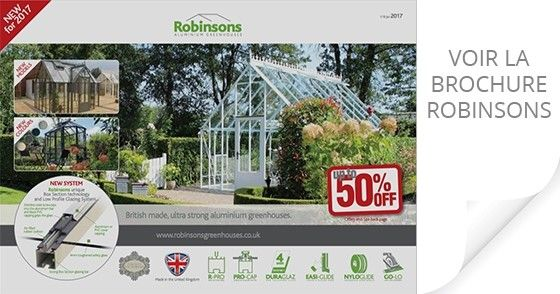 Brochure Robinsons Serres en Aluminium