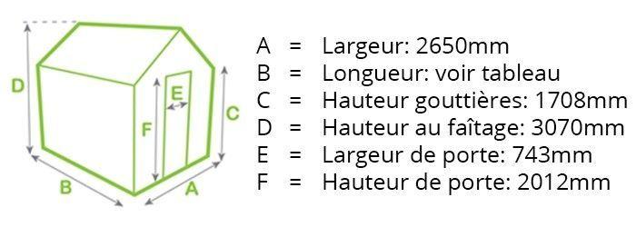 Alton Harrow dimensions